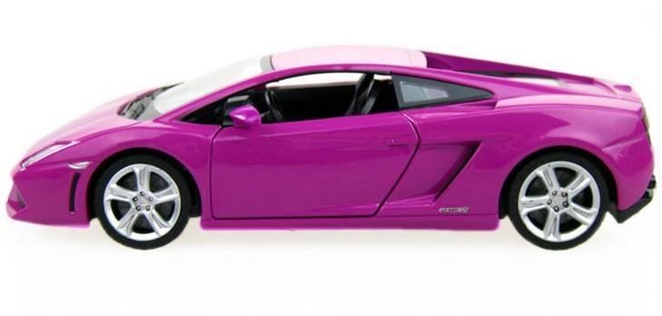 โมเดลรถ โมเดลรถยนต์ โมเดลรถเหล็ก Lamborghini 560-4 Purple 3