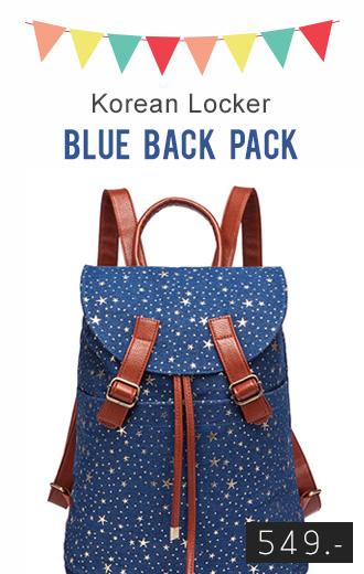 Back pack(กระเป๋าเป้ สะพายหลัง) BA011 สีน้ำเงิน