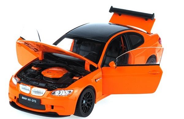 โมเดลรถ โมเดลรถยนต์ โมเดลรถเหล็ก BMW M3 GTS orange 4