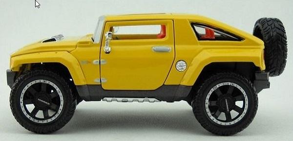 โมเดลรถยนต์ โมเดลรถเหล็ก 2008 Hummer HX 3