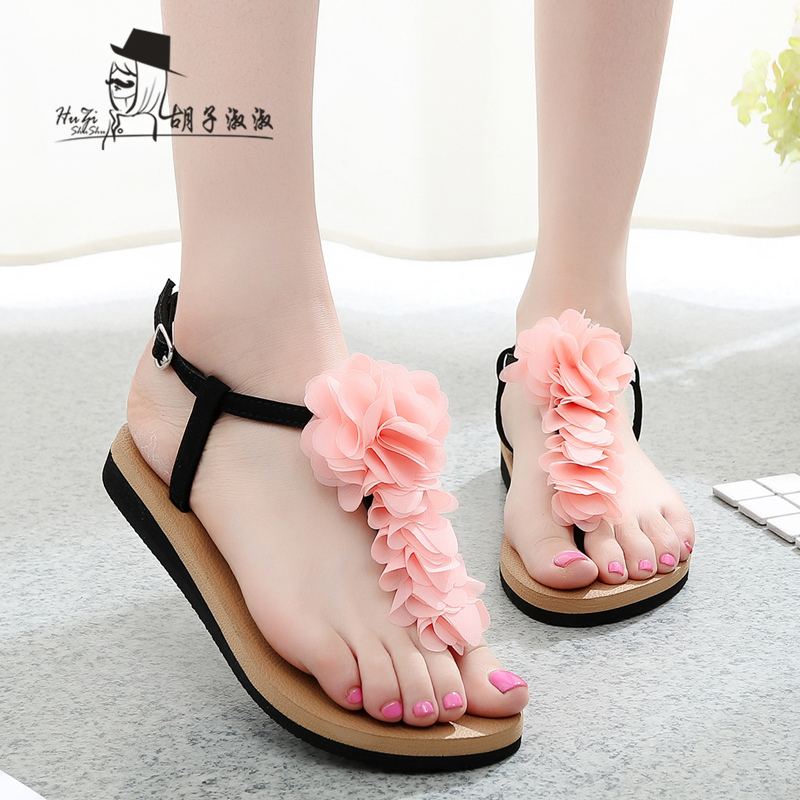 รองเท้าแฟชั่น รองเท้าแตะ รองเท้ามัฟฟิน Muffin sandals Korean high-heeled flip