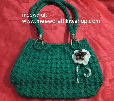 กระเป๋าถือเชือกร่ม รหัสPB012 ก้นกระเป๋า 9x24ซม. สูง 20ซม.