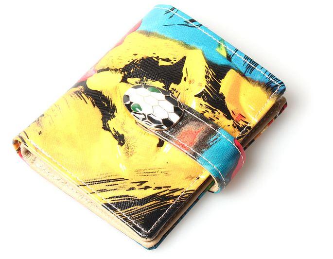 กระเป๋าสตางค์ใบสั้น กระเป๋าสตางค์ผู้หญิง กระเป๋าสตางค์หนังวัวแท้ ทำลายเกร็ดงู กระดุมปิด รูปหัวงู กระเป๋าสตางค์แนวพังค์ ร๊อค ลายอาร์ท สวย ๆ 27789
