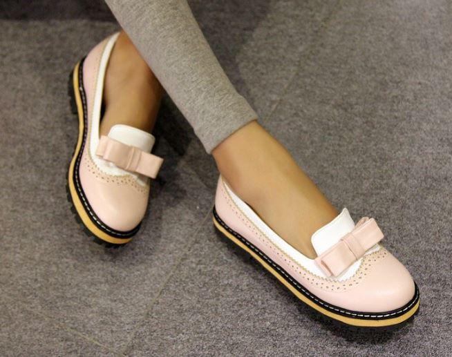 รองเท้าคัทชู ใส่ทำงาน ใส่เที่ยว เสริมส้นเล็กน้อย รองเท้าหุ้มส้น รองเท้าผู้หญิง แฟชั่น ดีไซน์ แบบหวาน ๆ แต่งลูกไม้ ติดโบว์ แบบวัยรุ่น น่ารักสุด ๆ 907114