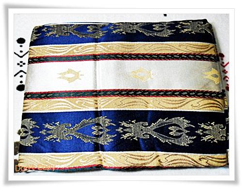 ผ้าคลุมที่นอน ผ้าปูโต๊ะ ผ้าอเนกประสงค์ สีน้ำเงินสลับครีม 006