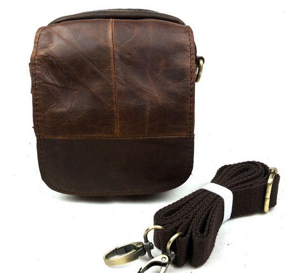กระเป๋าคาดเอว กระเป๋าหนังวัวแท้ Crazy Horse ทนทาน แบบสวย สไตล์ วินเทจ คลาสสิค สีน้ำเข้ม น้ำตาลอ่อน มีสายสะพาย กระเป๋าสะพายข้างได้ 157563