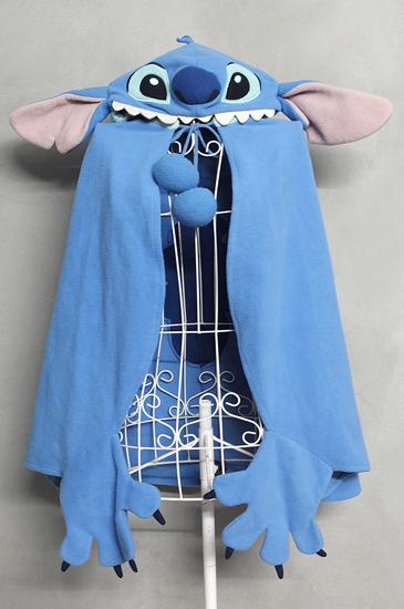 ผ้าคลุม Stitch มีฮู้ดและถุงมือในตัว