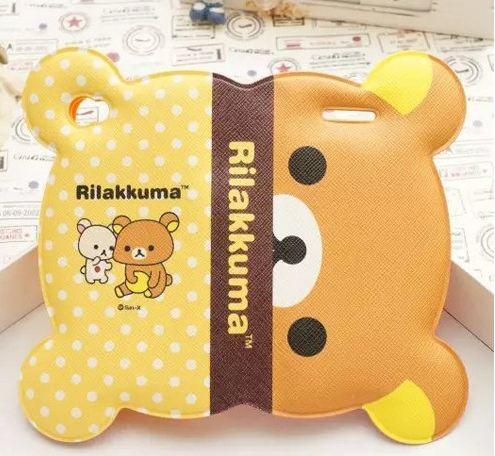 เคส iphone 6 6 plus เคสลายการ์ตูนดัง รีแลคคุมะ จากญี่ปุ่น รูปหน้า พับครึ่งได้ กางออกเป็นหน้าเต็ม หนัง pu กันน้ำ สีเหลืองจุด ครึ่ง น้ำตาล 108123_7