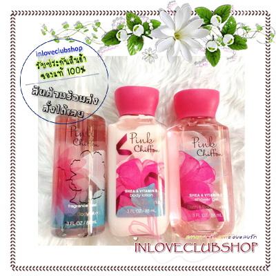 Bath & Body Works / Travel Size Body Care Gift Box (Pink Chiffon)