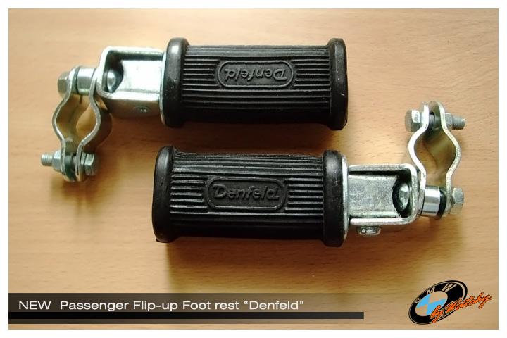 """พักเท้าหลัง แบบพับได้ ของ """"Denfeld"""" รุ่น 112/a ตัวเล็ก (ตัวยางยาว9ซม.) เป็นของใหม่ไม่เคยใช้ นำเข้าจากเยอรมัน"""