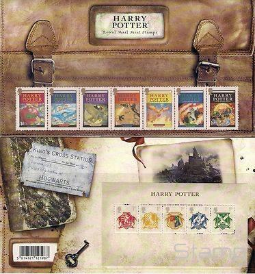 HARRY POTTER STAMP SET & MIN. SHEET