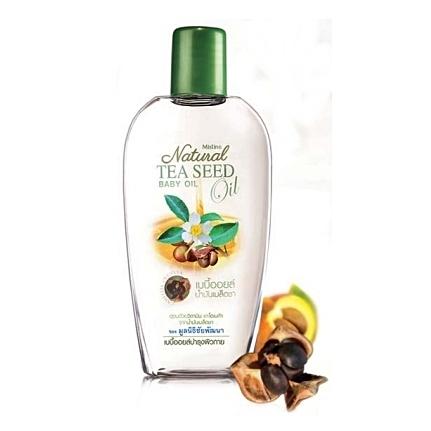 *พร้อมส่ง* Mistine Natural Tea Seed Oil Baby Oil ออยล์สำหรับบำรุงผิวสูตรอ่อนโยน อุดมด้วยไขมันไม่อิ่มตัวในปริมาณสูงทั้งโอเมก้า 3, 6, 9 สามารถทำงานได้อย่างตรงจุด ช่วยฟื้นบำรุงผิวให้เนียนนุ่ม ชุ่มชื่น มีน้ำมีนวล
