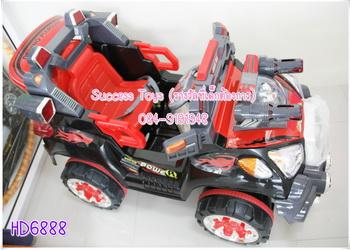 รถแบตเตอรี่เด็กนั่ง รุ่น HD6888 รถจิ๊ปหุ่นยนต์