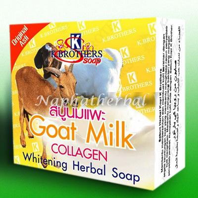 สบู่นมแพะผสมคอลลาเจน เค บราเทอร์ GOAT MILK COLLAGEN SOAP 60 กรัม
