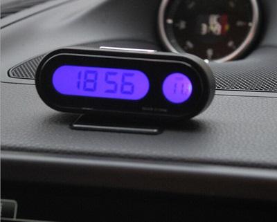 นาฬิกาและที่วัดอุณหภูมิดิจิตอลแบบตั้งบนคอนโซลได้