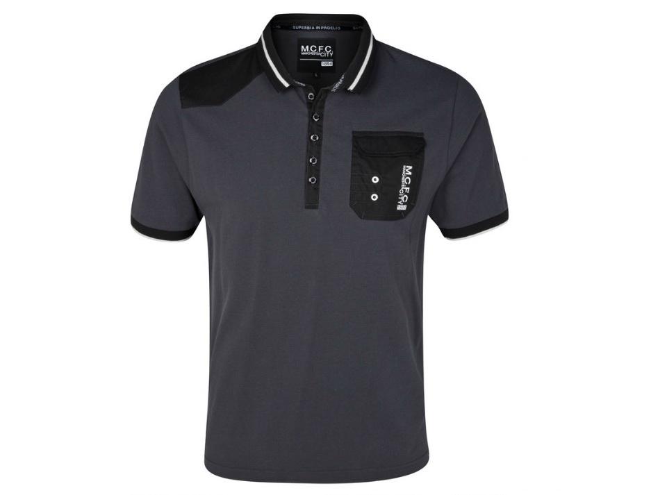 เสื้อโปโล แมนซิตี้ ของแท้ 100% Manchester City Plackett Polo Top - Charcoal จากสโมสรแมนซิตี้ UK สำหรับสวมใส่ เป็นของฝาก ที่ระลึก ของขวัญ แด่คนสำคัญ