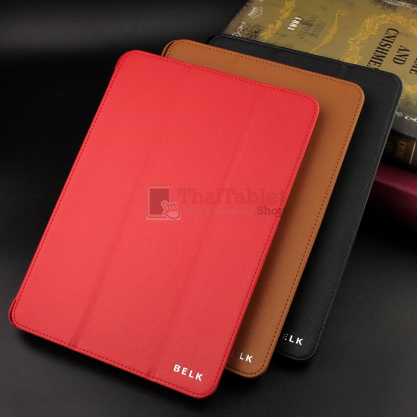 Belk Original Italian Leather Smart Cover Case For iPad Air