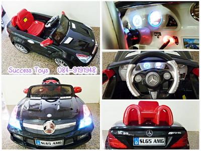 รถแบตเตอรี่เด็กนั่งไฟฟ้า รุ่น QX7999 รถเบนซ์ SL65 มี 2 สี ดำ แดง