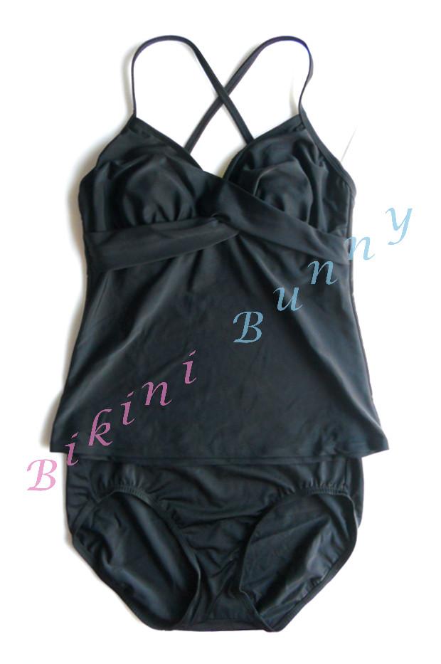 bk1019 ชุดว่ายน้ำสีดำอกทวิสต์ พร้อมส่ง Size M คัพ C-D --> ATHLETA
