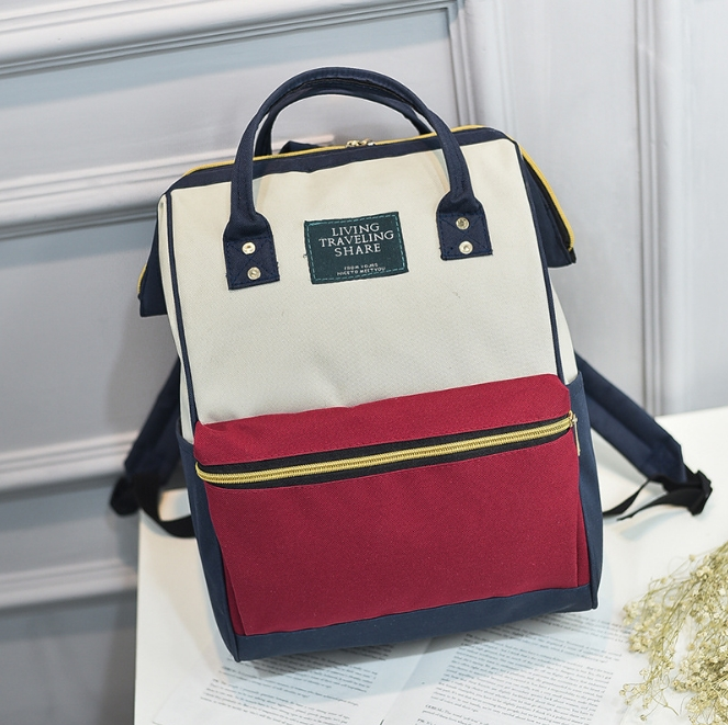 [ ลดราคา ] - กระเป๋าเป้แฟชั่น สไตล์เกาหลี สีทรีโทน ใบใหญ่จุของเยอะ ดีไซน์สไตล์แบรนด์สุดฮิต เหมาะกับสาว ๆ ที่ชอบกระเป๋าเป้ใบใหญ่ๆ แต่น้ำหนักเบา