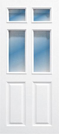 ประตู upvc รุ่นบานกระจก pg-003 ขนาด 90x200