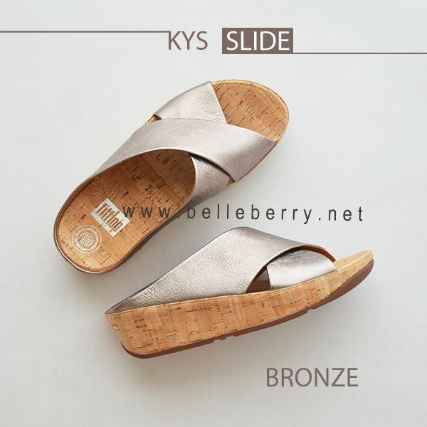 * NEW * FitFlop : KYS Slide : Bronze : Size US 8 / EU 39