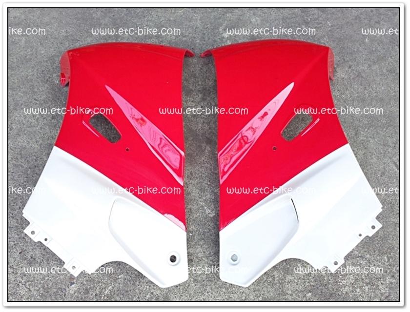 หน้ากาก KR150 สีแดงสด/ขาวมุก