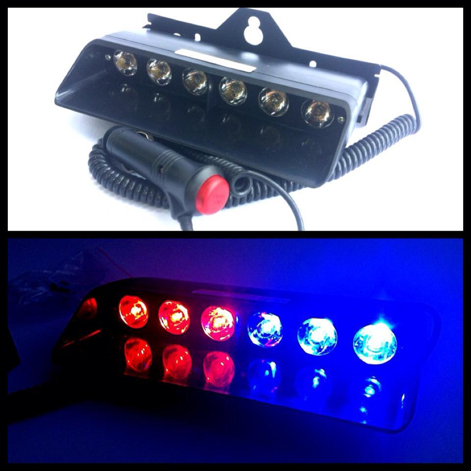 ไฟฉุกเฉิน LED 12V 6 X 2W แบบวางบนคอนโซล