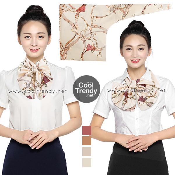 ผ้าพันคอสำเร็จรูป ผ้ายูนิฟอร์ม uniform ผ้าไหมซาติน : L209