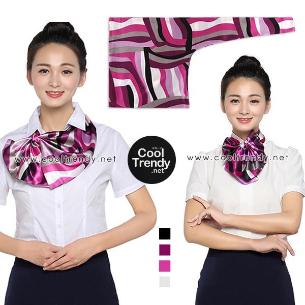 ผ้าพันคอสำเร็จรูป ผ้ายูนิฟอร์ม uniform ผ้าไหมซาติน : L23