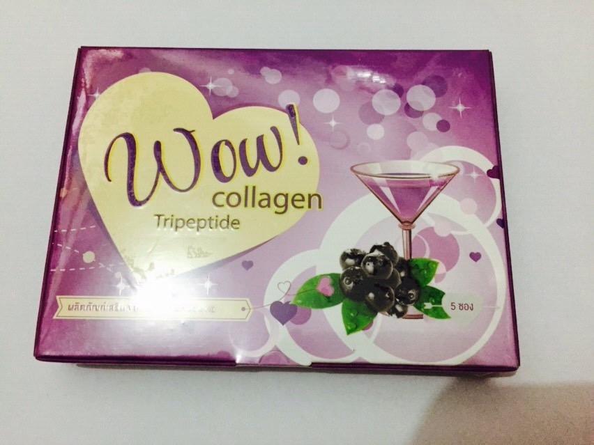 Wow Collagen 15,000 มิลิกรัม มี แบบ 5 ซอง ( กลิ่นบูลเบอร์รี่ )