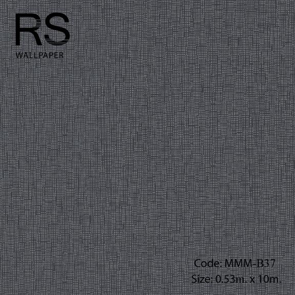 วอลเปเปอร์พื้นสีดำลายจุด MMM-B37