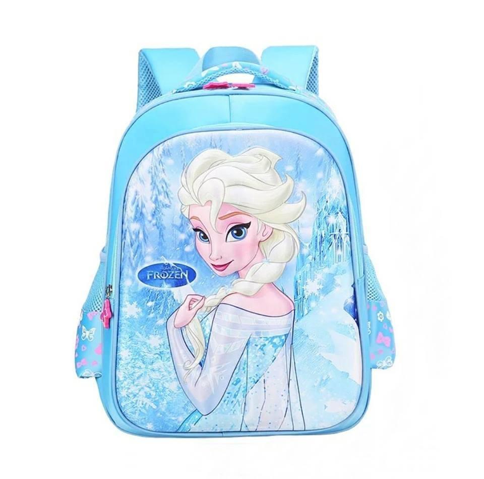 กระเป๋าเป้สะพายหลังลายนูน 3 มิติ Frozen ฟ้า