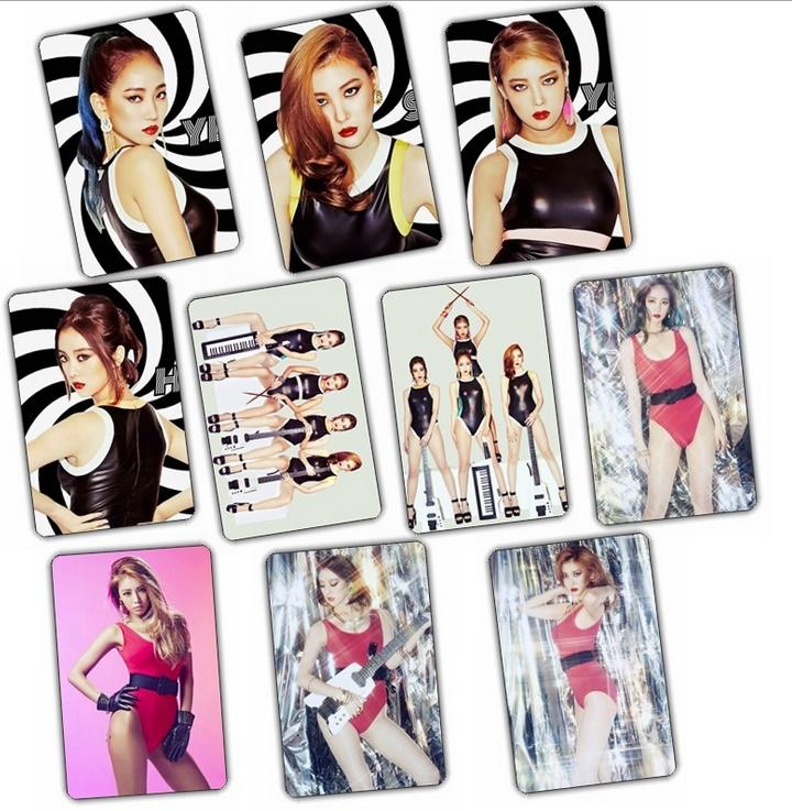 สติ๊กเกอร์ PVC กันน้ำ เซตละ 10 ใบ - Wonder Girls: I Feel You