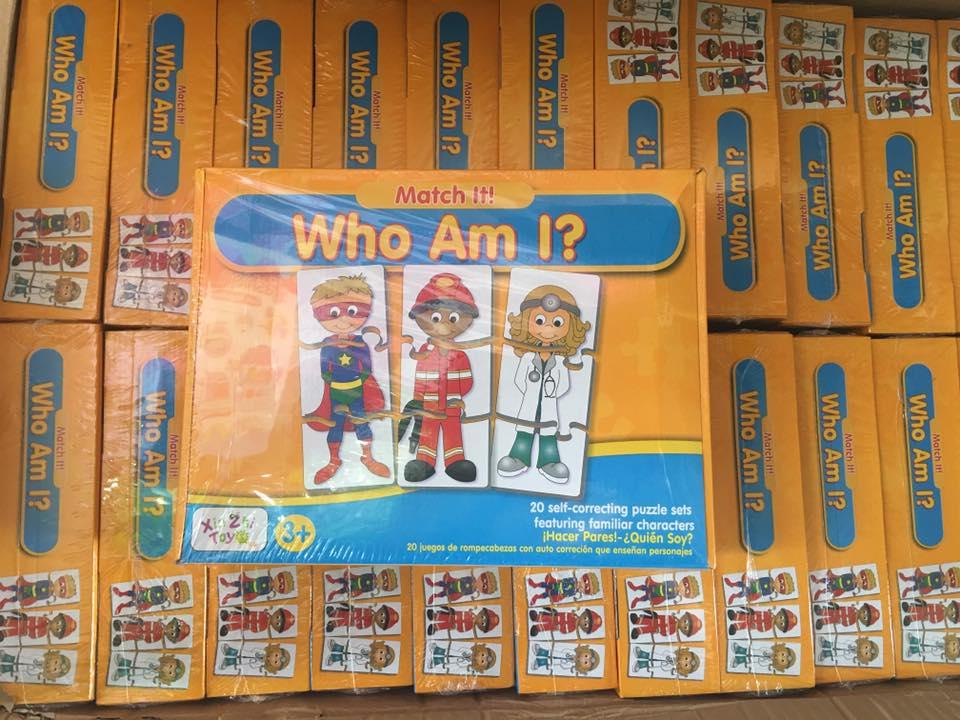 จิ๊กซอว์ ตัวต่อ จับคู่ภาพตัวการ์ต การสะกดคำ Match-it Who am I?