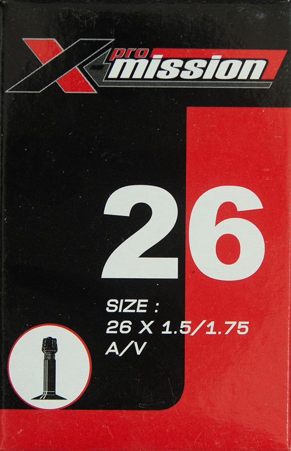 ยางใน X-Mission 26x1.5/1.75 AV จุ๊บใหญ่