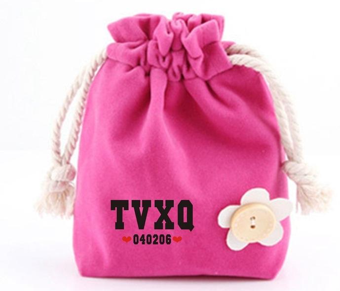 กระเป่าถือใส่ของลายการ์ตูนน่ารัก เนื้อผ้าอย่างดี TVXQ!
