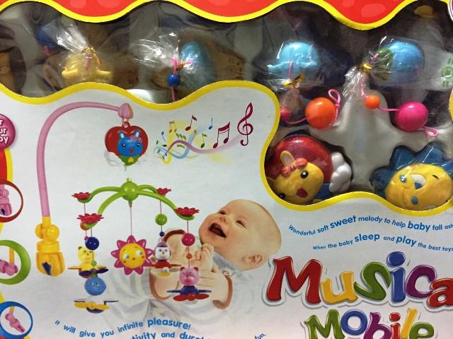 พร้อมส่ง โมบายติดเตียงเด็กแบบหนีบ musical mobile ส่งฟรี