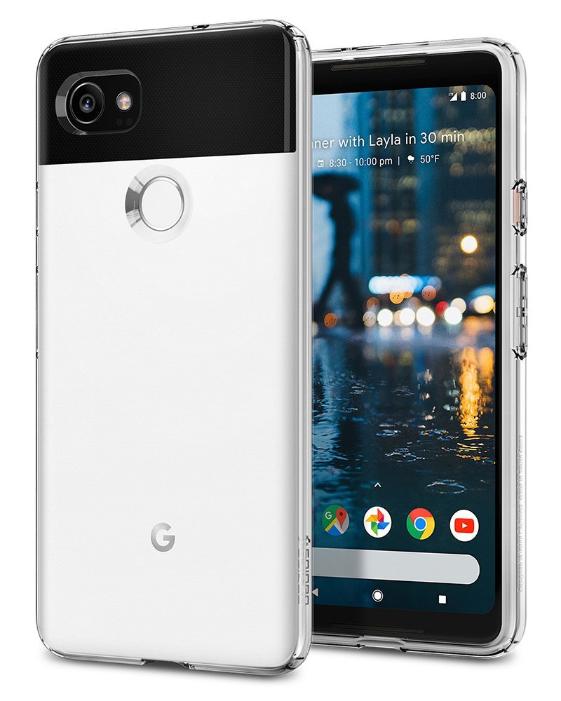 Spigen Liquid Crystal Google Pixel 2 XL Case with Slim Protection and Premium Clarity