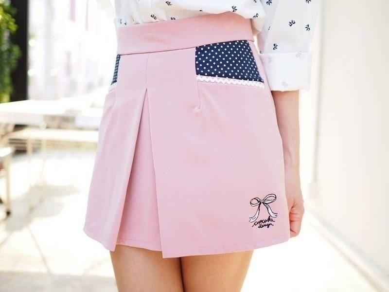 กางเกงกระโปรงกระเป๋าจุด