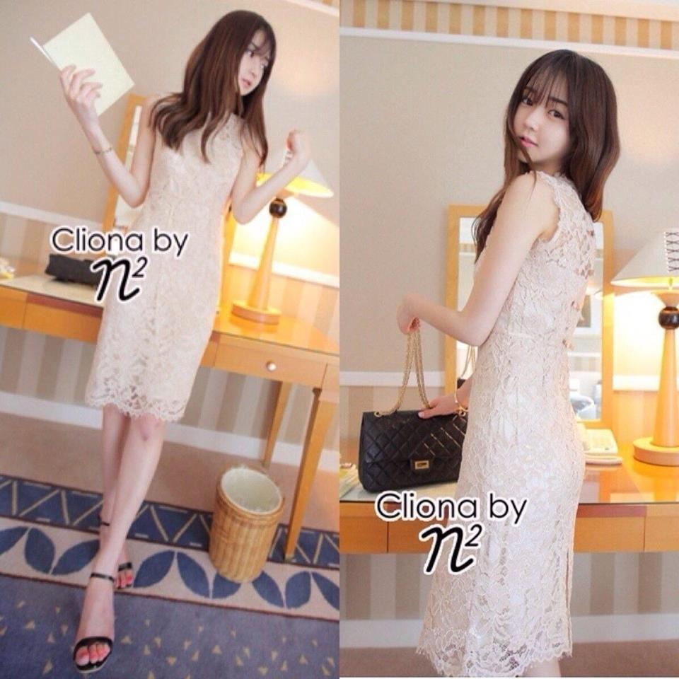 Cliona Made,Ladies Chinese Modern Lace Dress
