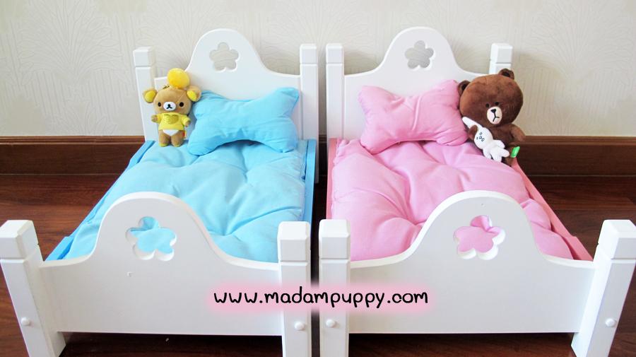 เตียงสุนัข เตียงน้องหมา สีชมพู พร้อมส่ง