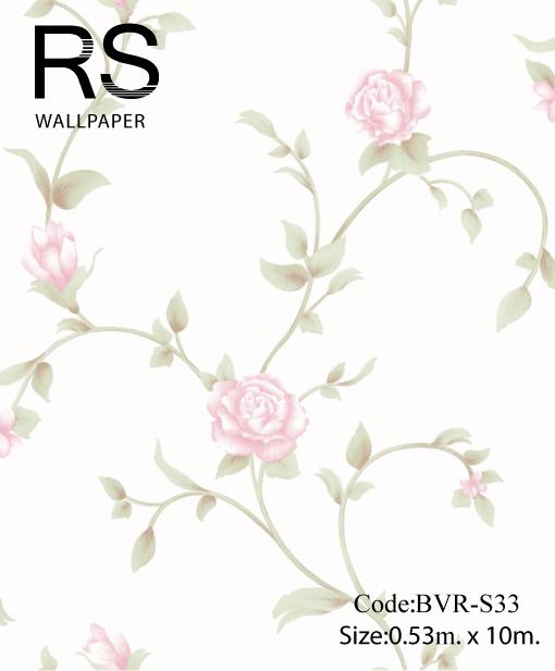 วอลเปเปอร์ลายดอกไม้ BVR-S33