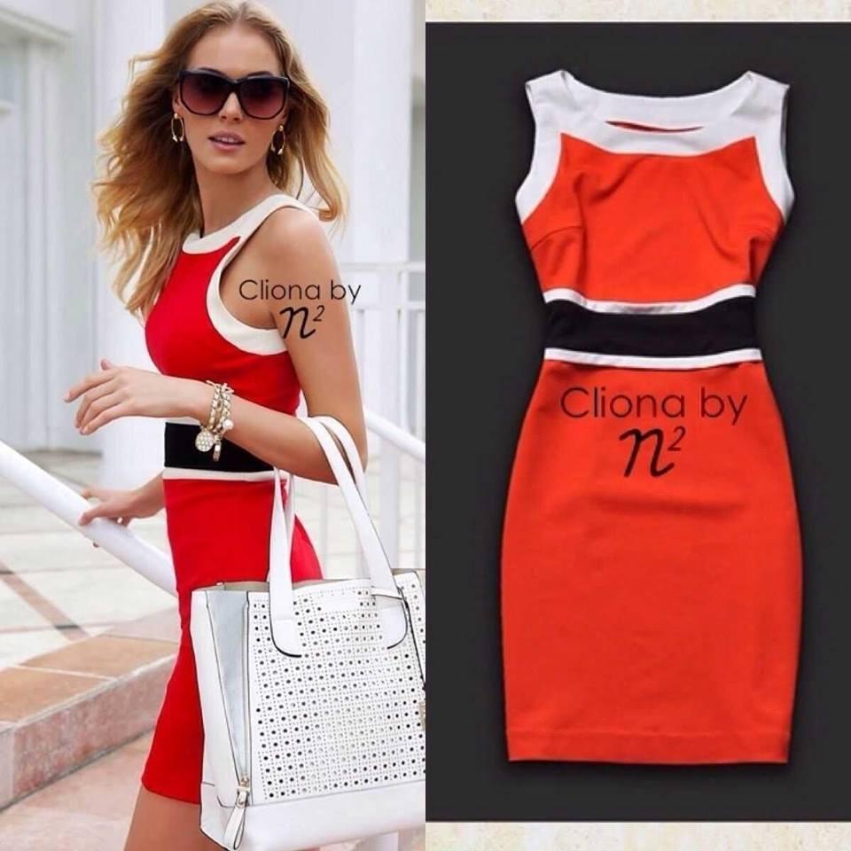 Cliona Made, Primary Colour Shape Dress
