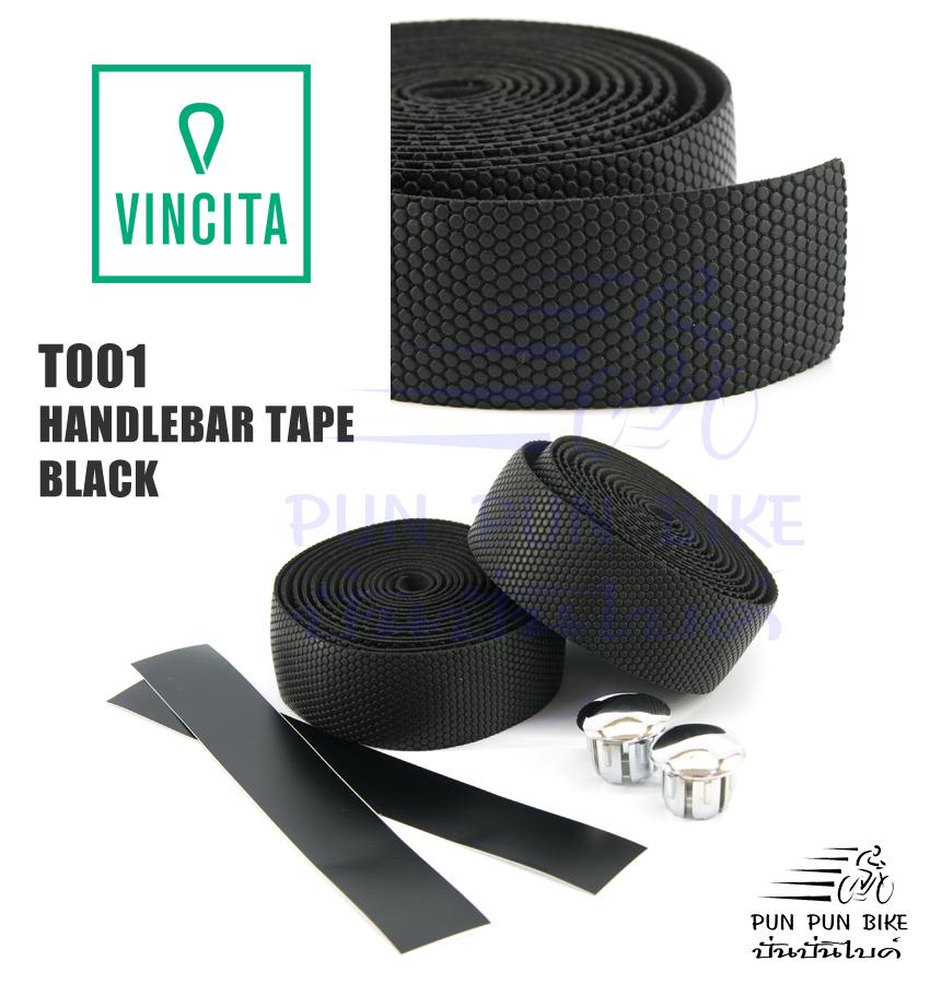 VINCITA : T001 ผ้าพันแฮนด์ สีดำ