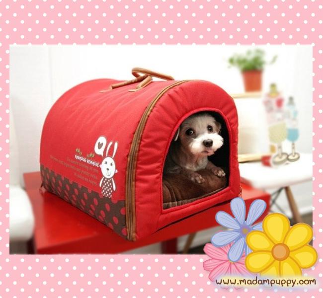ที่นอนน้องหมา กระเป๋าน้องหมาเอนกประสงค์ สีแดง ไซส์ S