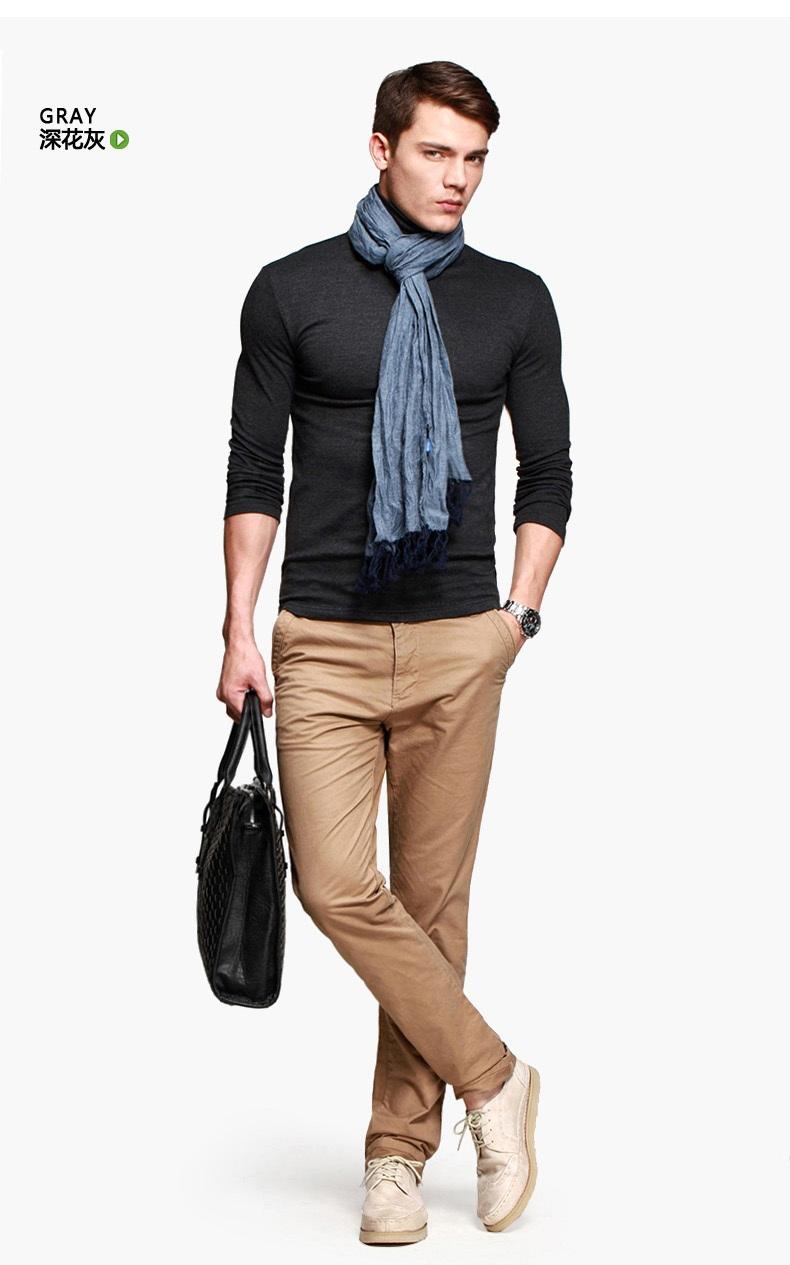 เสื้อคอเต่าผู้ชาย สีเทาดำ แขนยาว ใส่พอดีตัว เสื้อกันหนาว เนื้อผ้าดี ใส่กันหนาวได้ เสือกันหนาวผู้ชาย ทับด้วยโค้ท หรือแจ็คเก็ต หรือจะใส่เดี่ยวก็ได้