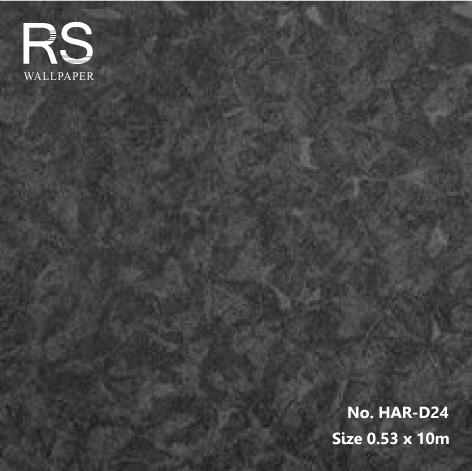 วอลเปเปอร์เทกเจอร์ลายพู่กันปาดสีดำอมเงิน HAR-D24