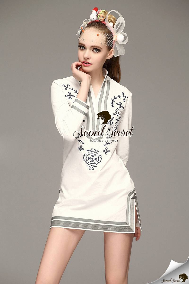 Seoul Secret Say's... Chicly Embroider Dress