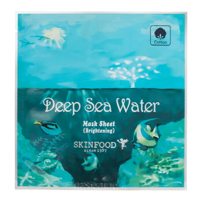 Skinfood Deep Sea Water Mask Sheet (Brightening) มาร์คแผ่นด้วยคุณค่าสารสกัดจากแหล่งแร่ธาตุต่างๆ ทะเลน้ำลึก